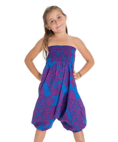 57f63a2fe69b love this product Blue   Purple Geometric Convertible Romper - Toddler    Girls