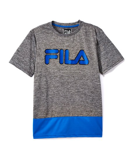 723b3de0af9 love this product Prince Blue  Fila  Logo Color-Block Tee - Boys
