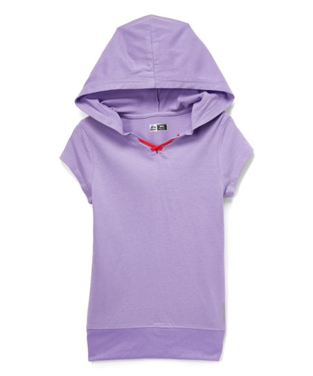 838773cc9f7f45 RBX Lavender Mesh-Trim Hooded Top - Girls