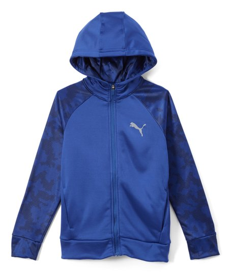 d33749a6b5c2 love this product Sodalite Blue Camo Fleece Zip-Up Hoodie - Boys