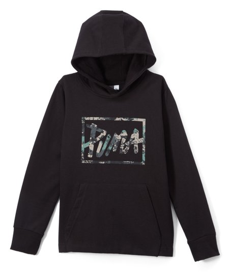 2549ebde8a22 love this product Black  Puma  Fleece Hoodie - Boys