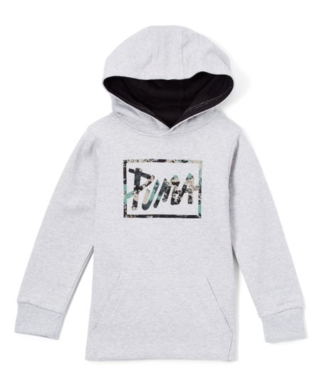 d8bb50a720fa love this product Light Gray  Puma  Fleece Pocket Hoodie - Boys