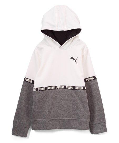 9496b0e280c1 love this product Whisper White  Puma  Tape Fleece Hoodie - Boys