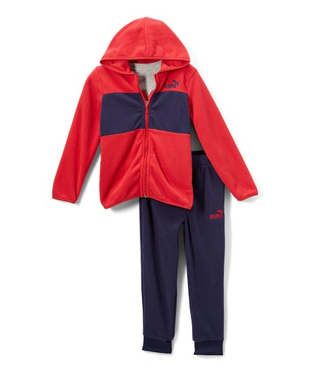 fdc8e9e78da4 love this product Ribbon Red   Navy  Puma  Zip-Up Hoodie Set - Toddler