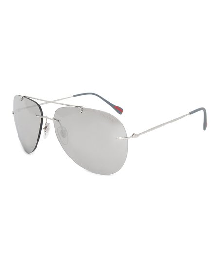 603ef36c7 Prada Gray Mirror Aviator Sunglasses | Zulily
