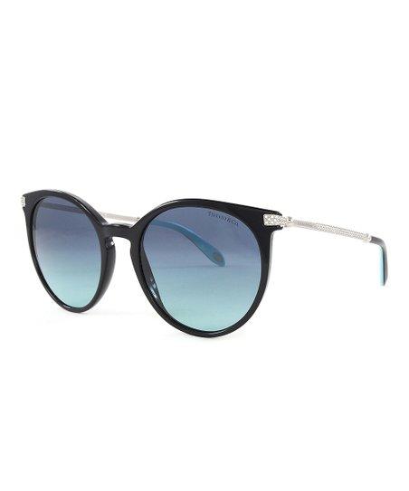 7c41da741e71 Tiffany   Co. Blue Gradient   Black Round Oversize Sunglasses