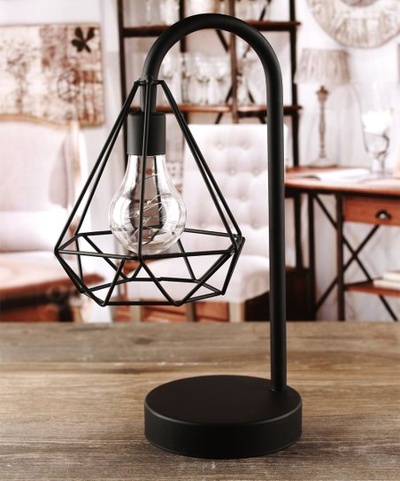 Circleware Triangle Cage Battery Operated Table Lamp Zulily