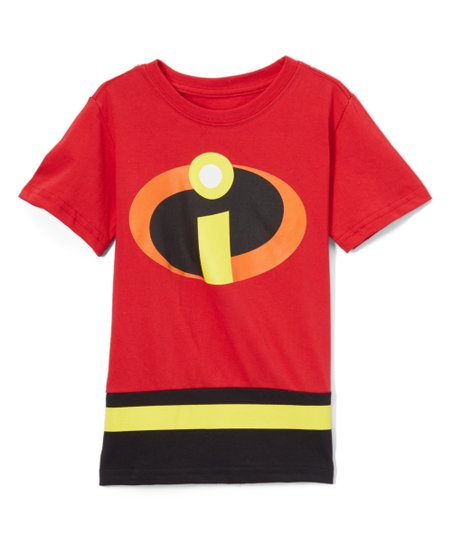 11454078 Childrens Apparel Network Incredibles 2 Red Logo Tee - Boys | Zulily