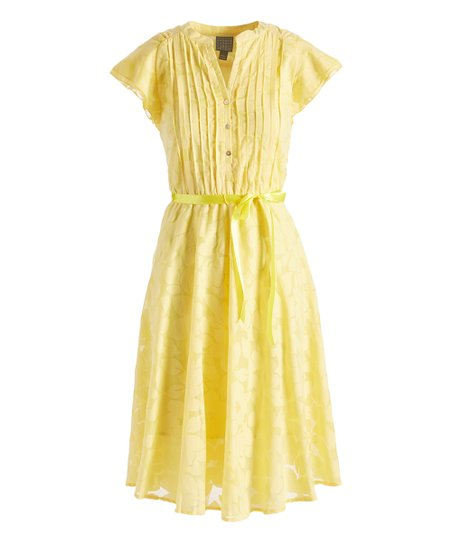 Rabbit Rabbit Rabbit Designs Yellow Floral Cap Sleeve Shirt Dress Best Price And Reviews Zulily,Matching King And Queen Crown Tattoo Designs