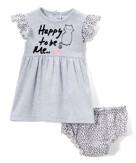 08c5ce279f love this product Blue  Happy To Be Me  Flutter-Sleeve Dress   Diaper Cover