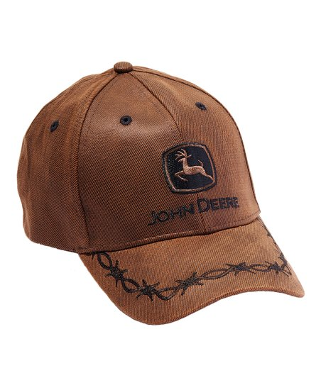 aadc1950c39 Brown Oilskin  John Deere  Logo Baseball Cap