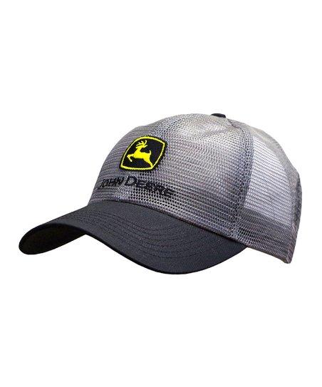 Gray  John Deere  Logo Mesh Baseball Cap 3b6e875da8c