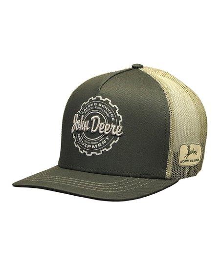 love this product Olive  John Deere  Gears Baseball Cap 220b25a975d