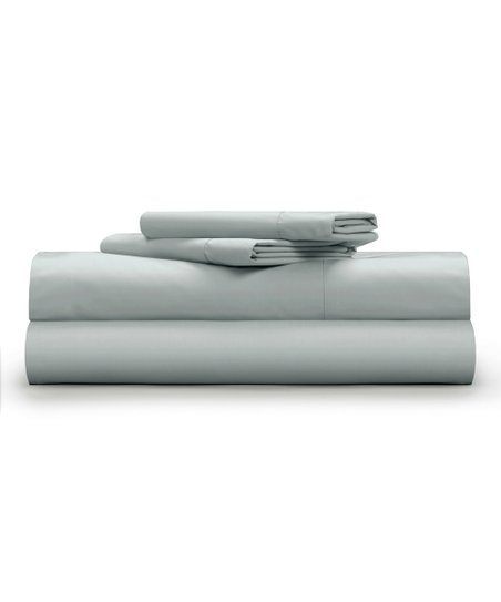 Light Gray Cool Crisp Four Piece Sheet Set