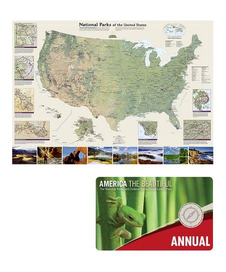 National Park Service National Park Map & Park Pass Set | Zulily