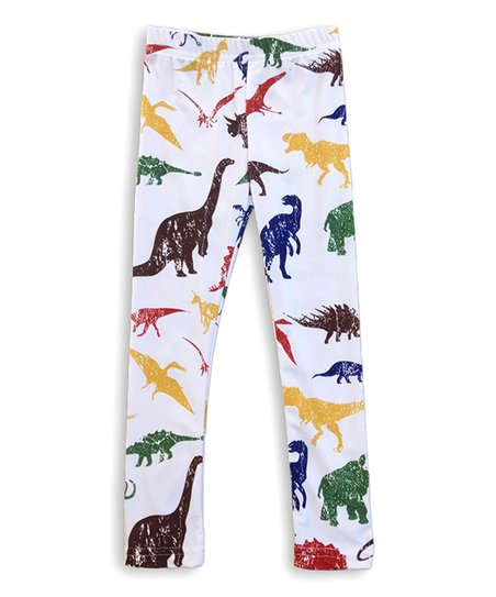 4a8250643f751 love this product White Dinosaur Leggings - Girls