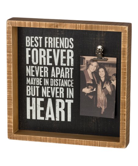 Primitives By Kathy Best Friends Forever Inset Block Sign Frame Zulily