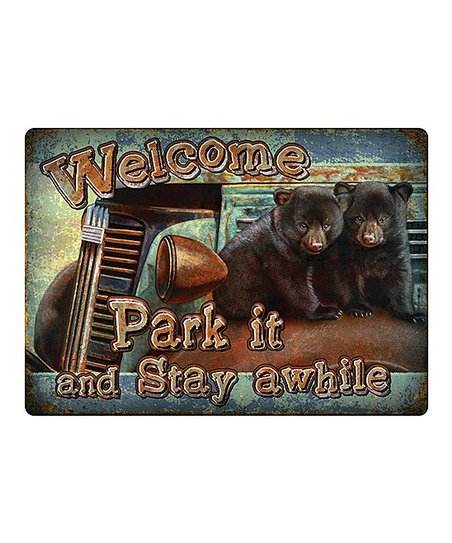 Rivers Edge Products Park It Tin Wall Sign Zulily