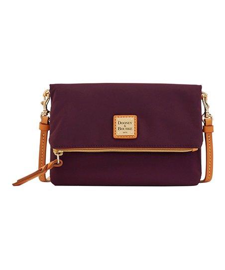 Dooney   Bourke Bordeaux Fold-Over Zip Crossbody Bag