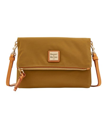 Dooney   Bourke Khaki Fold-Over Zip Crossbody Bag