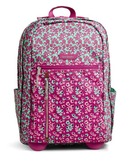 f8093206c0a0 Vera Bradley Ditsy Dot Lighten Up Rolling Backpack