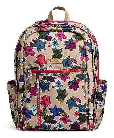 5ba577eadc75 Vera Bradley Falling Flowers Neutral Lighten Up Grand Backpack
