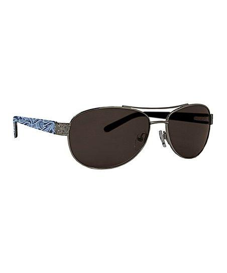 cb1258856 Vera Bradley Indio Marlene Polarized Aviator Sunglasses   Zulily