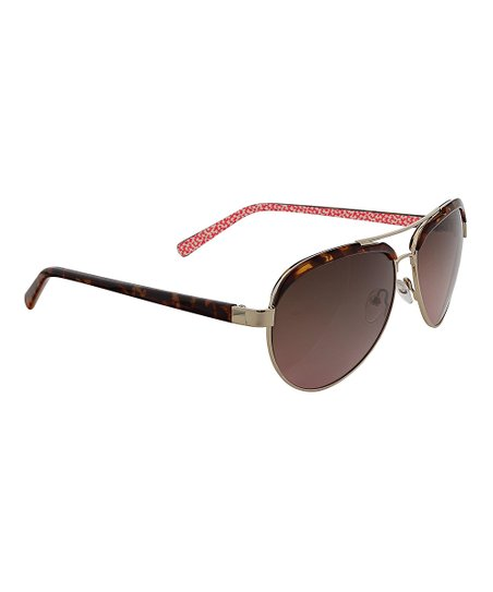 9f33d1c5380 love this product Abstract Cloud Coral Etta Polarized Aviator Sunglasses