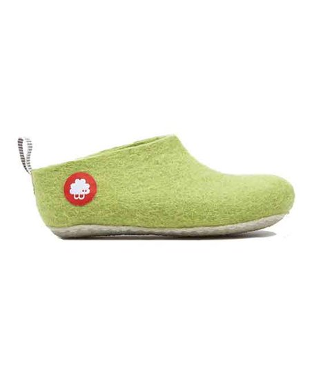 ab2104f92 Baabuk Light Green Gus Wool Slipper - Kids | Zulily