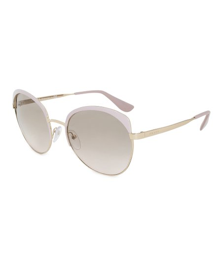 bdff47199c71 love this product Pale Pink & Gold Cinema Oval Sunglasses