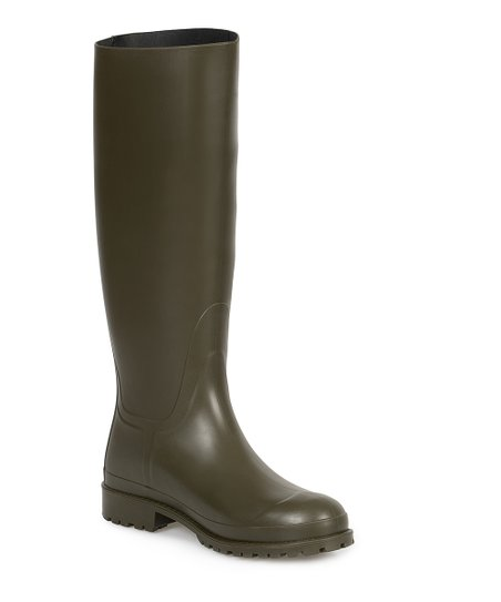706dc5ad20cac Saint Laurent Olive Green Rain Boot - Women