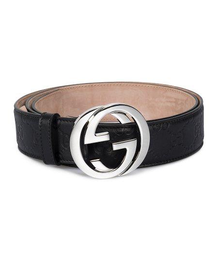 485013b71b8 Gucci Black   Silver Signature Leather Belt