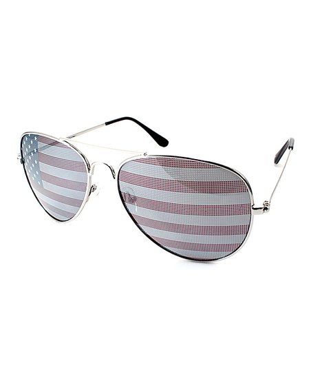 8433881a36162 love this product Red   White American Flag Aviator Sunglasses