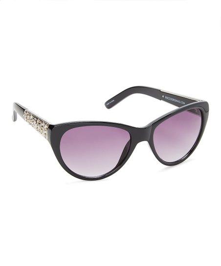 f0fb2c7a55231b Rocco Originals Black Gold-Accent Cat-Eye Sunglasses | Zulily