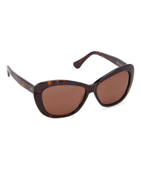 e1bb46cb947 H by Halston Dark Tortoise   Brown Modified Butterfly Sunglasses ...