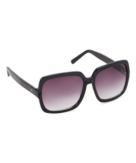 6b09498b8395 H by Halston Black & Purple Gradient Square Oversize Sunglasses | Zulily