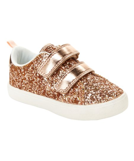 e3e90625232a love this product Rose Gold Glitter Andee Sneaker - Girls