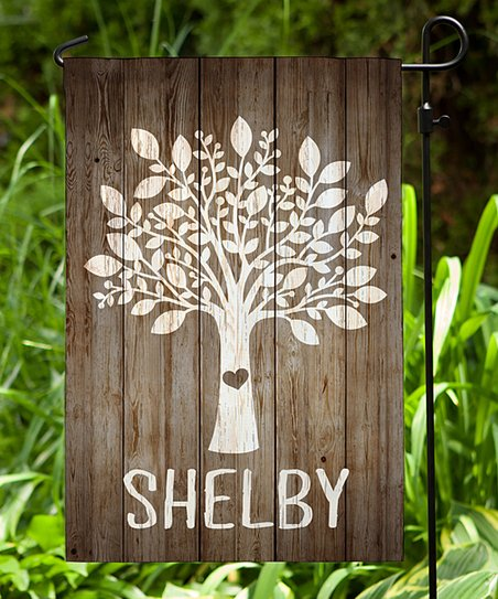 Personalized Planet Our Family Tree Personalized Garden Flag