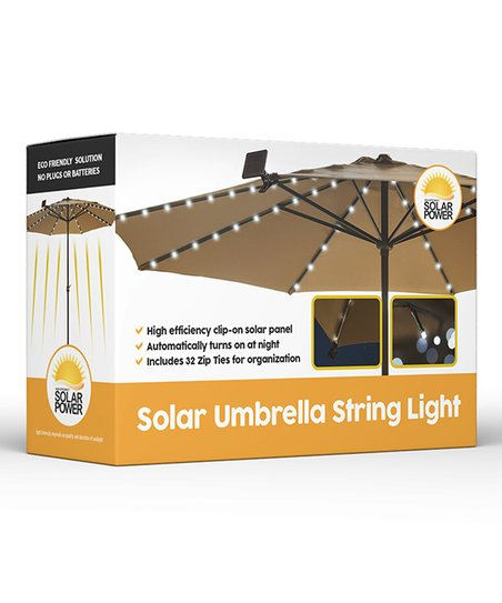 Touch Of Eco Solar Patio Umbrella String Lights Zulily