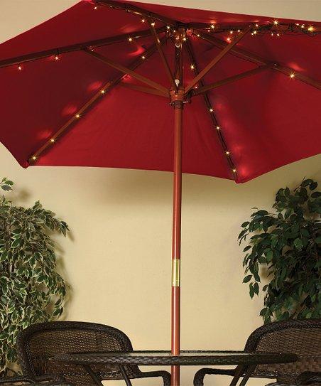 The Gerson Company Solar Warm White Led Umbrella Light Set Of 72