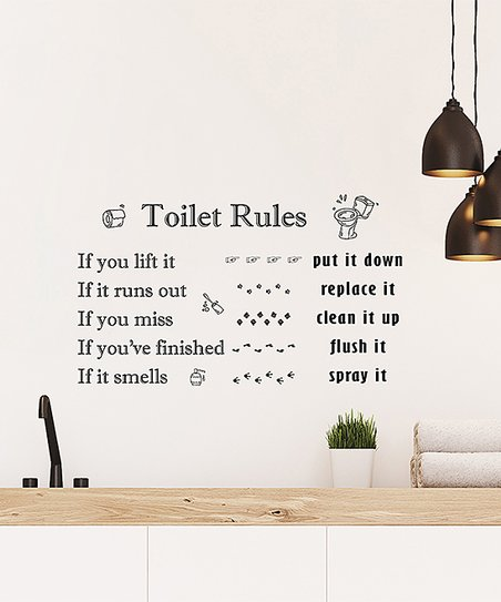 Walplus Toilet Rules Decal Set