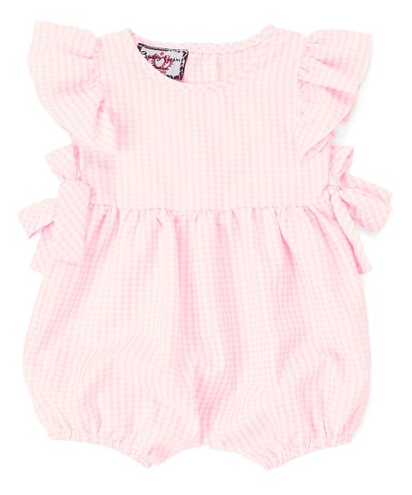 f16fd15acdca love this product Pink Gingham Bubble Romper - Newborn   Infant