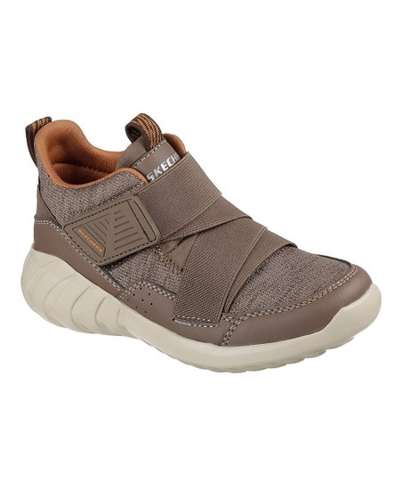 Skechers HYDRUS MODERN Z Strap Kids Taupe Brown Sneaker Shoes