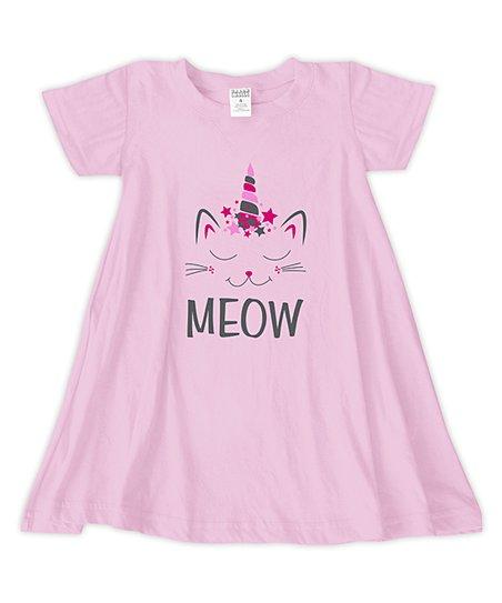 ffd9678c084 love this product Light Pink  Meow  T-Shirt Dress - Toddler   Girls