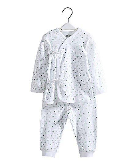 80e918223 Sunshine Peppy Green   White Sheep Long-Sleeve Top   Pants - Newborn ...