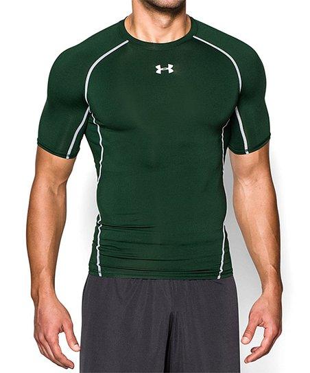 b514f0996 Under Armour® Forest Green HeatGear® Armour Compression Shirt - Men ...