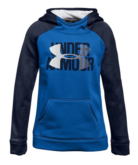1dfe274b0f901 Under Armour® Lapis Blue Armour Fleece® Big Logo Hoodie - Girls