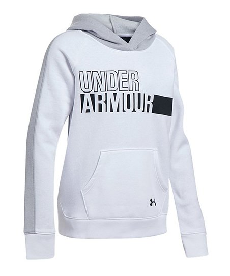 sale retailer 2f098 09015 love this product White  under Armour  Favorite Fleece Hoodie - Girls