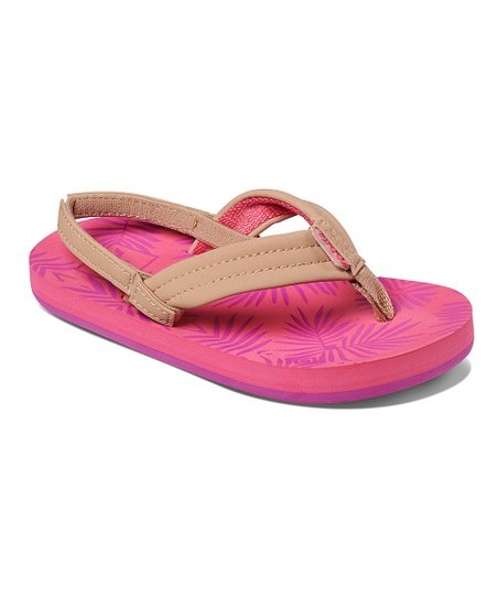 c41ea98194ff love this product Pink Palms Footprints Sandal - Girls