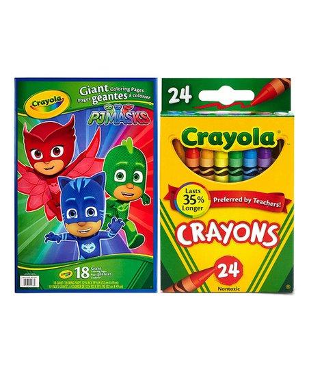 Crayola Pj Masks Giant Coloring Book 24 Ct Crayons Set Zulily